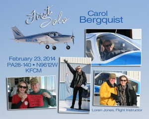 Carol Bergquist's First Solo!