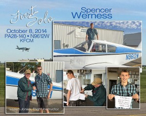 Spencer Werness First Solo