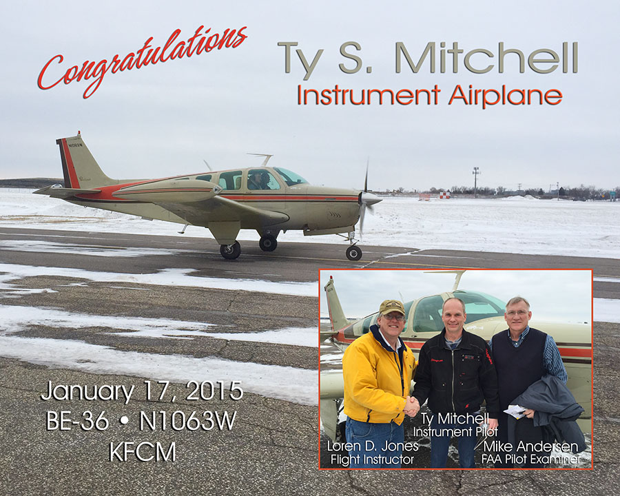 Ty Mitchell, Instrument Airplane